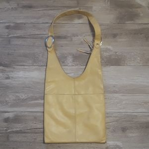 Francesco Biasia Cream Leather Hobo Bag